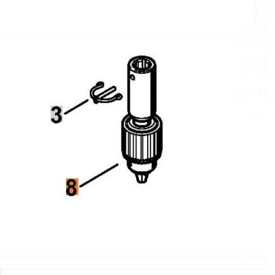 Сверлильный патрон Stihl для BT 121 и BT 130, для спиральных буров с диаметром до 13 мм
