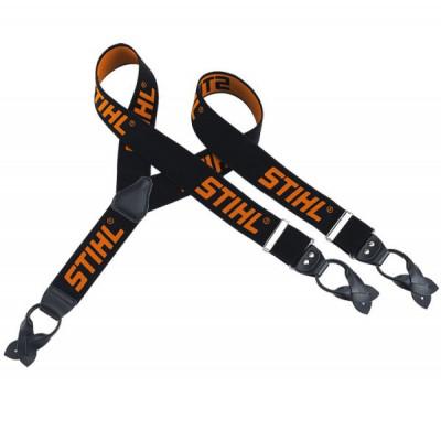 Подтяжки Stihl чёрные с оранжевым 130 см