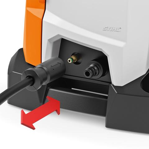 Мойка оснащена системой быстрого присоединения шланга