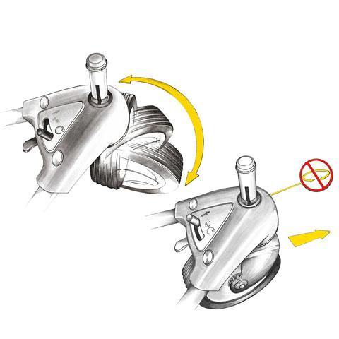 Регулируемое переднее колесо